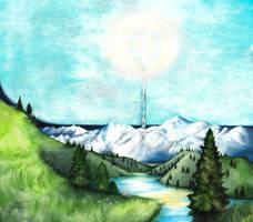 Illuin (The spring of Arda) by SarkaSkorpikova