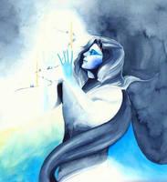 Mandos and the spirits of Edain by SarkaSkorpikova