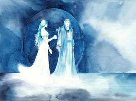 Manwe and Varda by SarkaSkorpikova