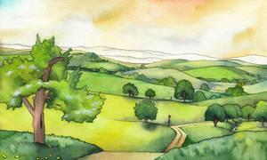 The Shire illustration by SarkaSkorpikova