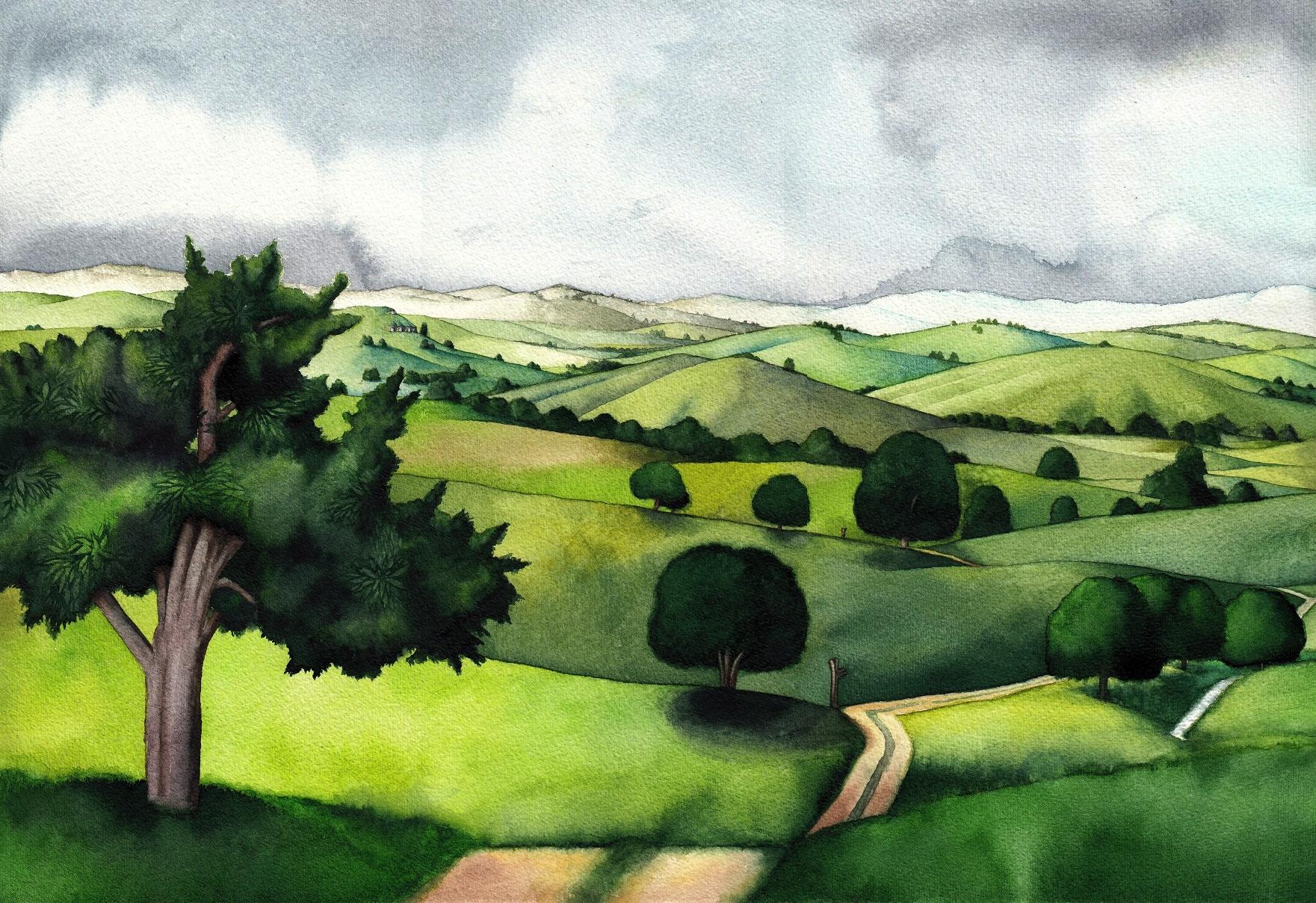 Shire hills by SarkaSkorpikova