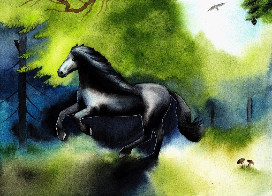 Horse runningg by SarkaSkorpikova