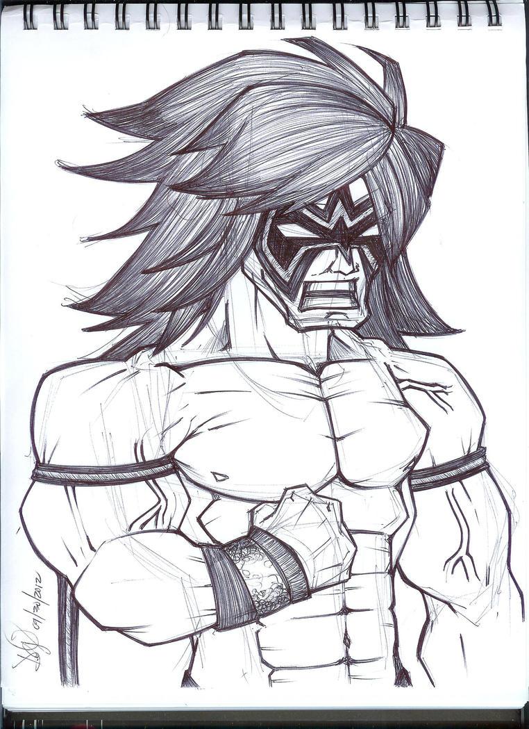 Ultimate Warrior by emceelokey