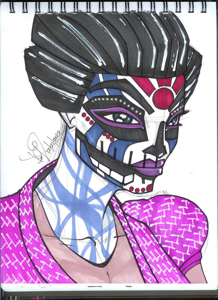 Geisha De La Muerte by emceelokey