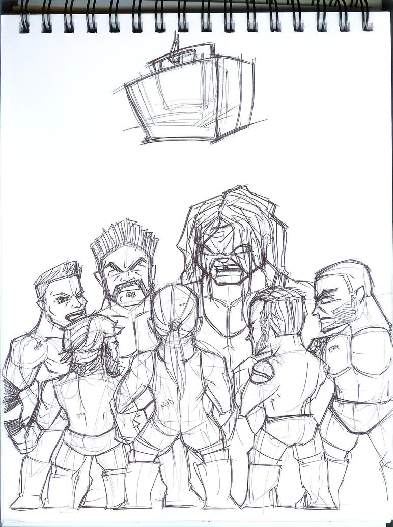 money in the bank all stars sketch by emceelokey on deviantart