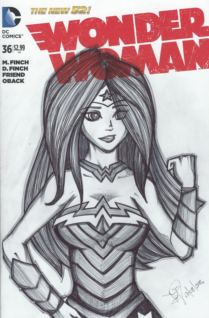Wonder Woman Sketch Cover by emceelokey