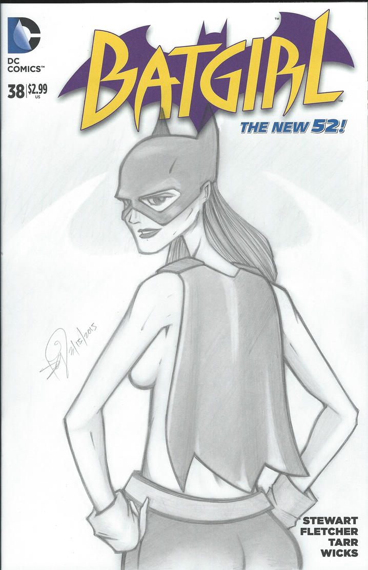 Batgirl Sketch Cover by emceelokey
