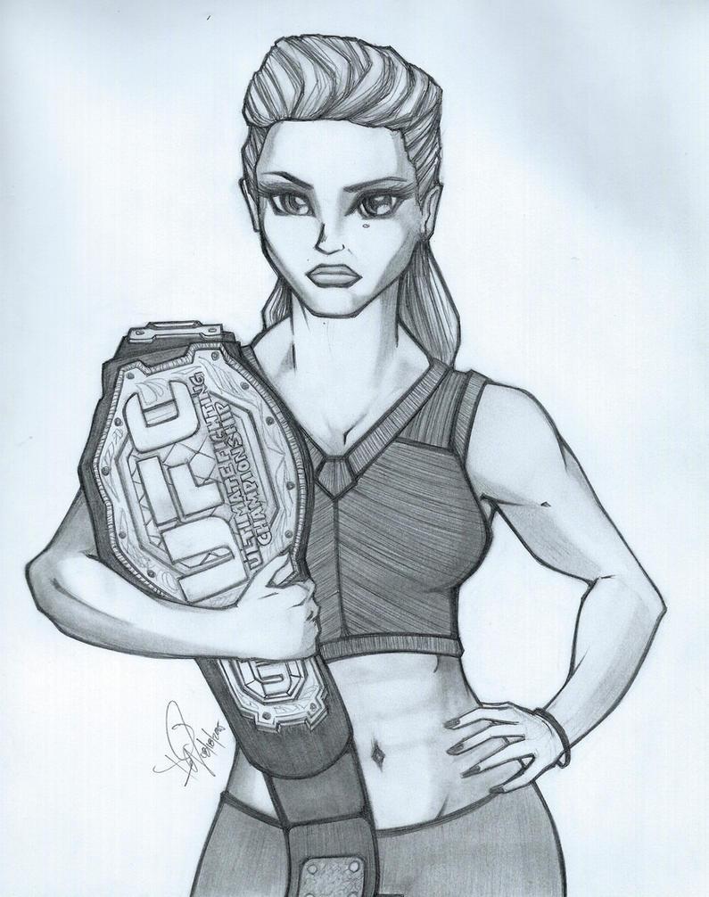 Ronda Rousey by emceelokey