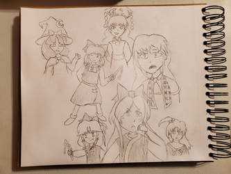 Just a bunch of random Touhou character sketches