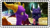Spyro and Cynder looking stamp by Cynder200
