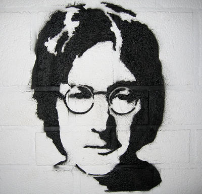 john lennon outline Imagine this design on your walls, promoting people and the world living as one shown in turquoise #66 and satin silver #90, sized 40 x 19.