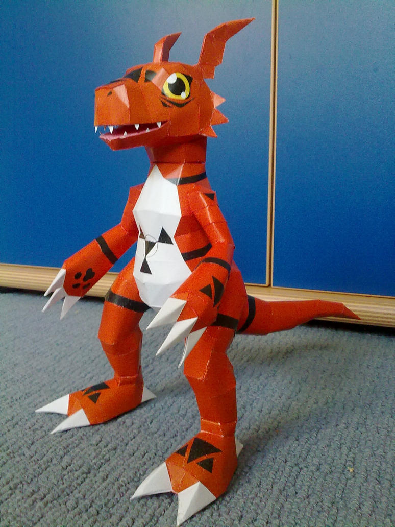 Digimon Guilmon papercraft by Marlous2604