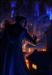 Garrett over The City by dominuself
