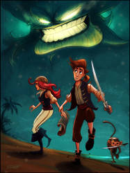 The Horror of Monkey Island by dominuself