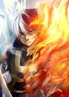 Todoroki Shouto - Boku no hero academia by Devil-Nutto