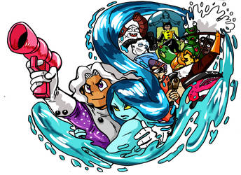 Cosmos and Waterfall All Characters by ChrisGRepresa