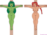 She-Hulk And Red's Crucifixion by Bramble-Violet