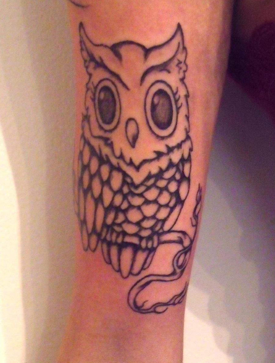 Owl tattoo by ASPHYX1A