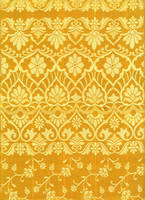 Yellow saree pattern by LaTaupinette