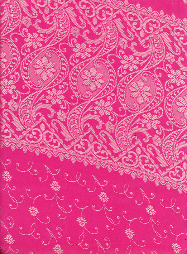 Pink Saree Pattern by LaTaupinette