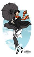 Mary Poppins Pin-up