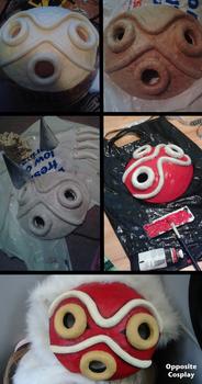 Princess Mononoke Mask Tutorial