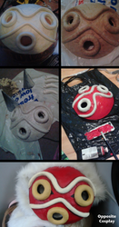 Princess Mononoke Mask Tutorial by OppositeCosplay