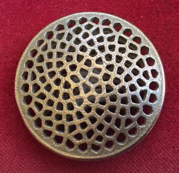 Voronoi Sunflower Pendant Stainless Steel