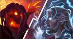 Fire vs. Lightning by PhyrexiaVirus
