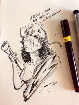 Marianne pleure Charlie Hebdo