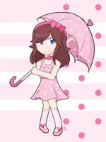 Pink Polka Dots by ReshiraDragon