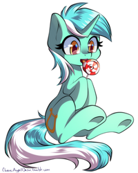 Lyra with a lollipop