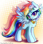 Commission - Rainbow Dash with a Flower