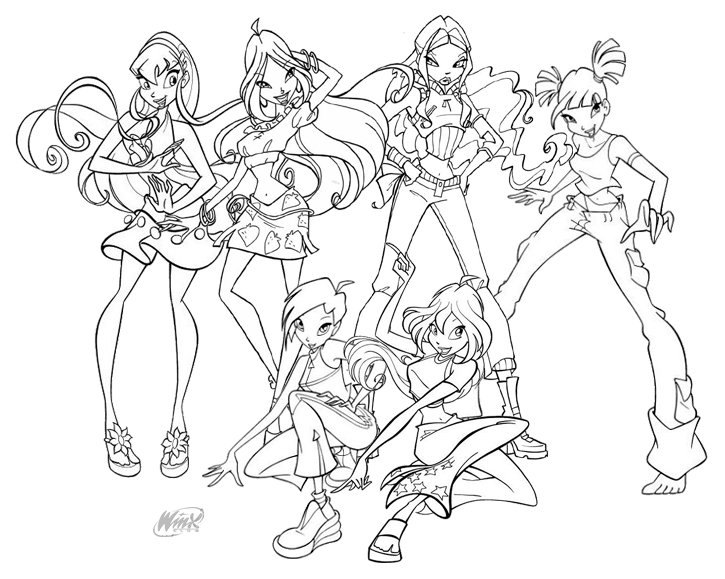10 Best Ausmalbilder Winx images | Coloring pages, Winx club ... | 579x725