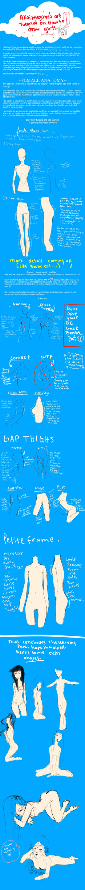 how to draw women tutorial by akaimegane