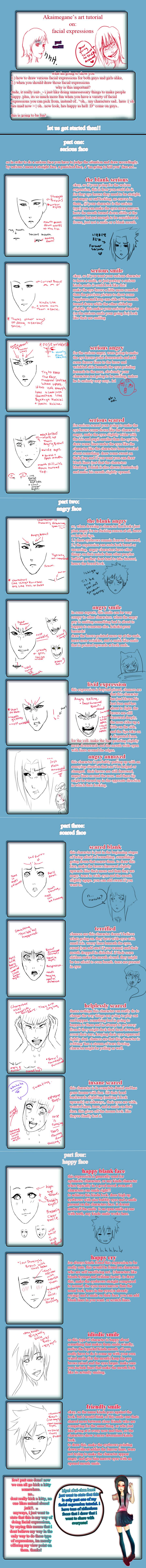 facial expression tutorial: part 1 by akaimegane