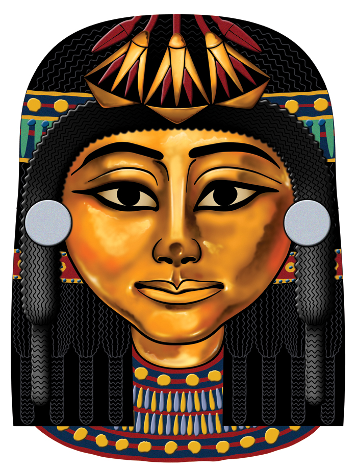 Egyptian mask 2 by spr0ket on deviantart for Egyptian masks templates