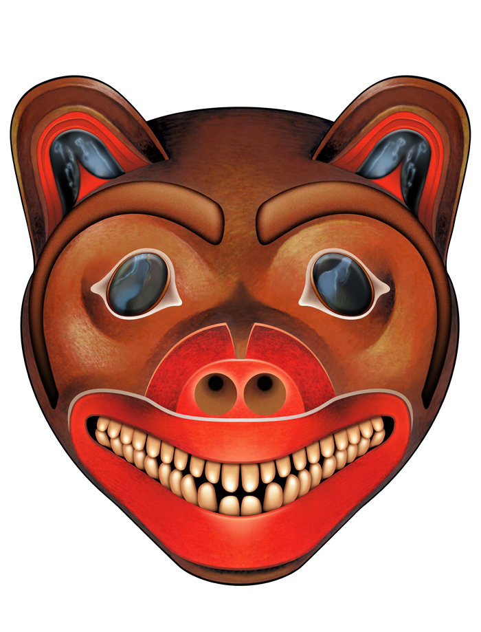 South American Masks North american wolf mask by