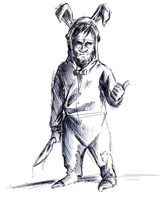 easter bunny killer by kiekan88 on deviantart