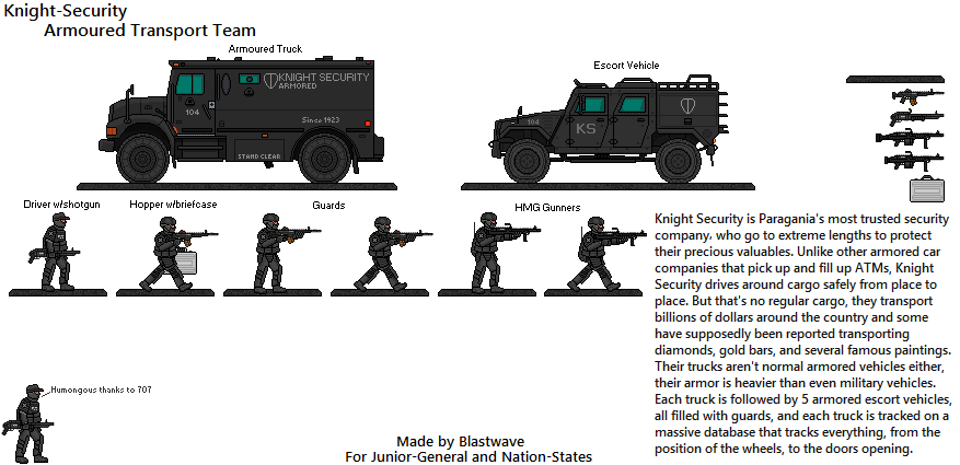 Knight Security Armored Transport Team By Blastwaves On