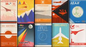 Retro Airline Leaflets