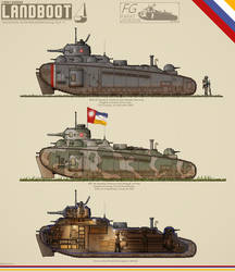 Mark 1 Landboot Heavy Tank by BlastWaves