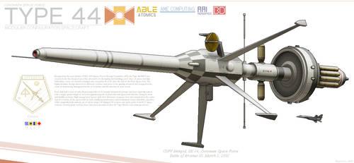 Type 44 Modular Space Warship by BlastWaves