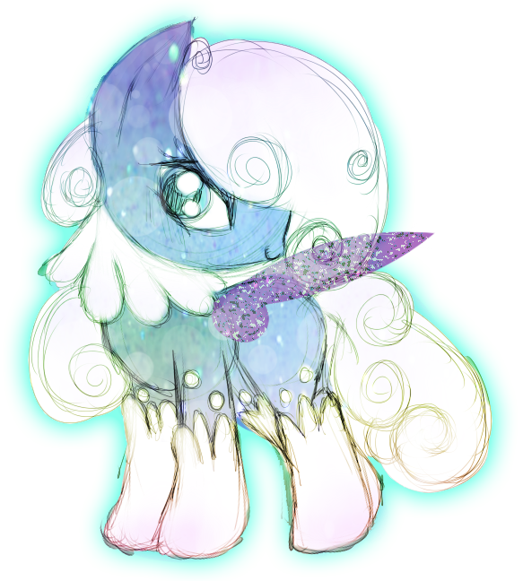 Fairy Pony Auction: Winter Dip: RESELLING by Syico