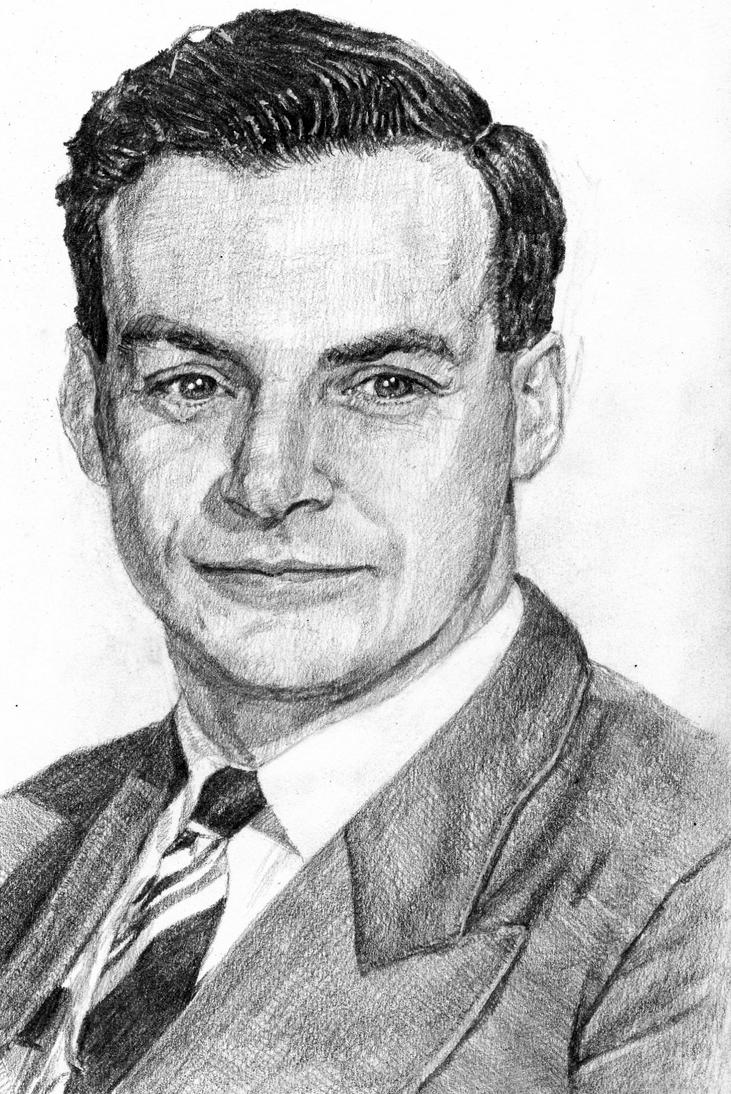 Richard Feynman by KingVahagn