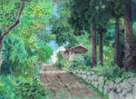 Ghibli background art study
