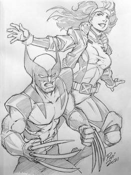 Wolverine and Rogue CCE21