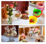 Wedding Sweets Table by TheBohoCraftsShoppe