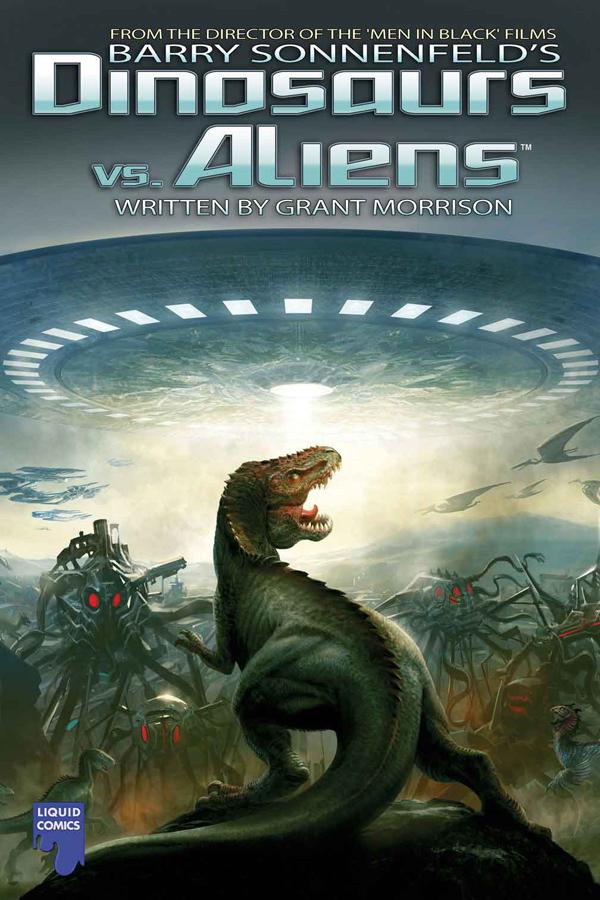 Dinosaurs vs Aliens graphic novel/movie wp by LacitheHunter