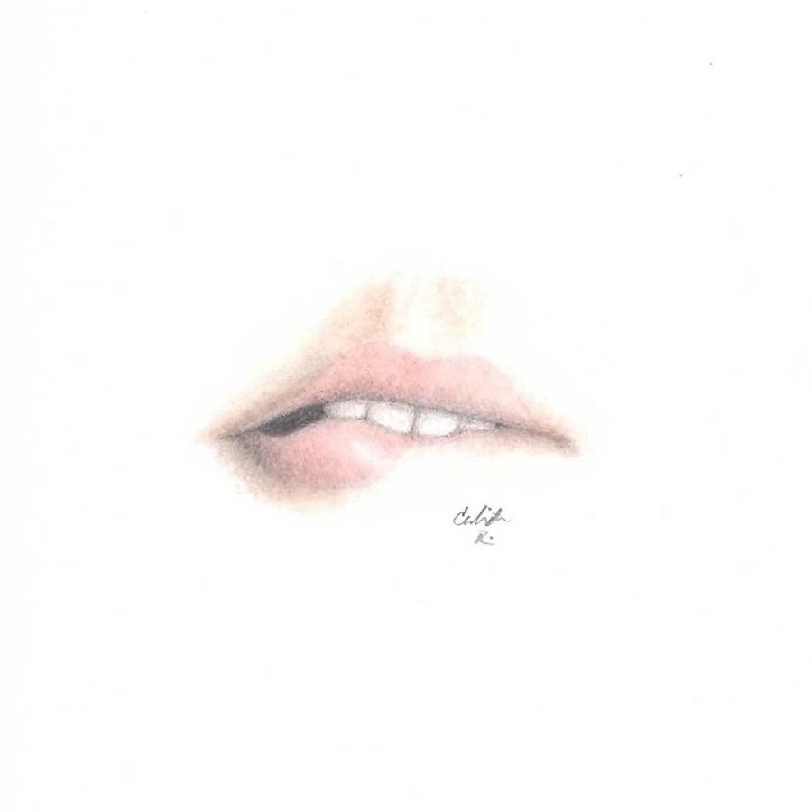 how to draw biting lips step by step 60270 usbdata